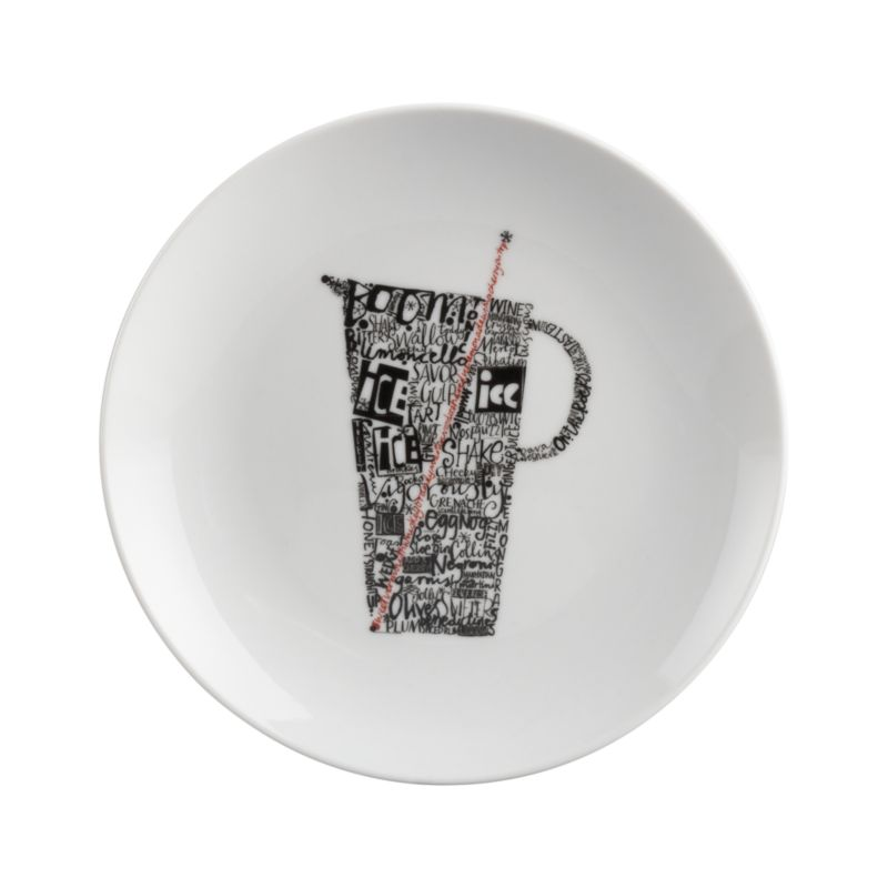 Conversational, cocktail-focused graphic shapes up on clean white porcelain for hors d'oeuvres service.<br /><br /><NEWTAG/><ul><li>Porcelain</li><li>Dishwasher- and microwave-safe</li><li>Made in China</li></ul><br />