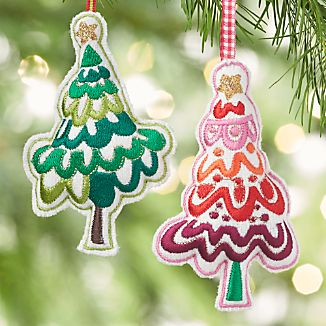 Stitched Tree Ornaments
