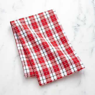 Stitched Plaid Dish Towel