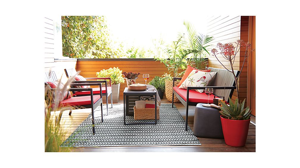 Alfresco Grey Sofa with Sunbrella ® Cushion