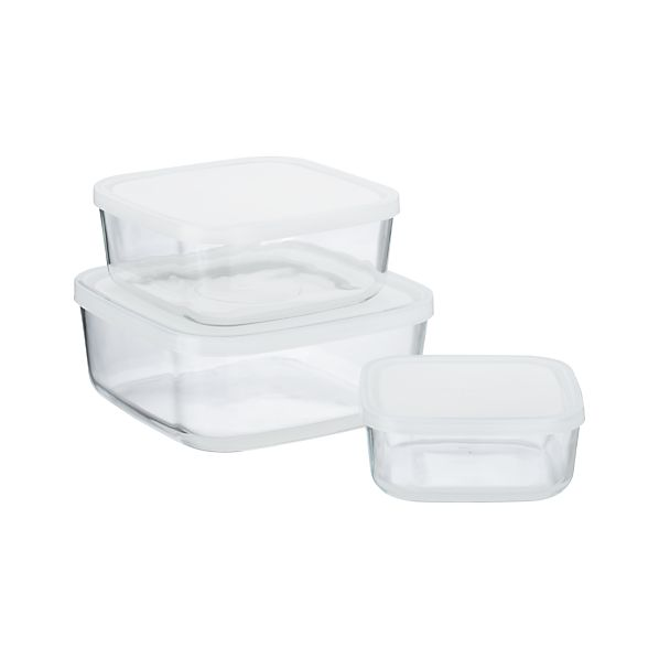 3-Piece Glass Storage Container Set