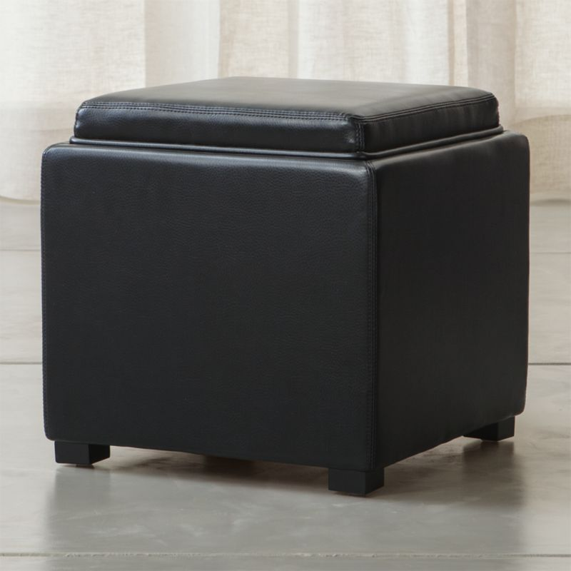 Grace Cocktail Storage Leather Ottoman by BradingtonYoung
