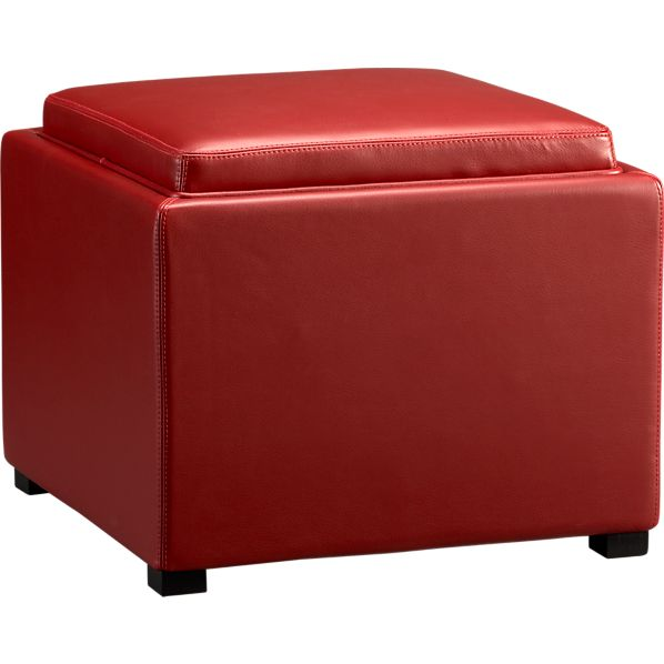 "Stow Red 22"" Ottoman"
