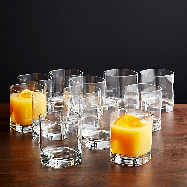 Set of 12 Strauss Double Old-Fashioned Glasses