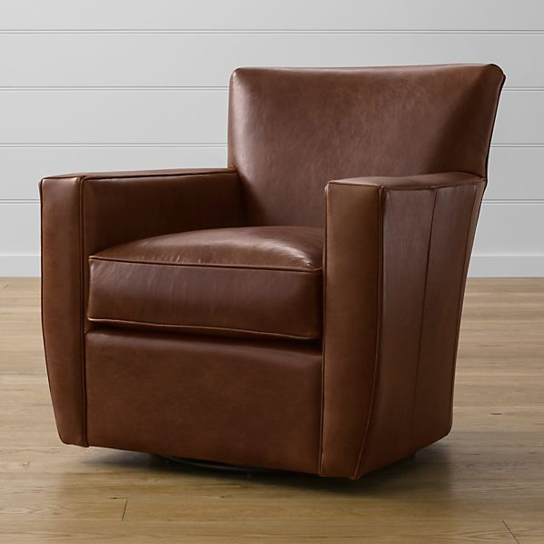 Streeter Leather 360 Swivel Chair