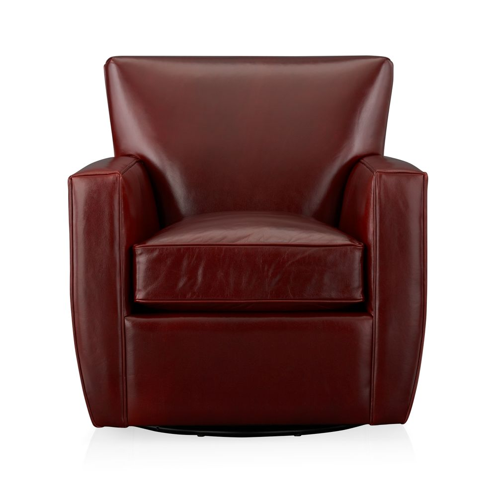 leather glider with ottoman