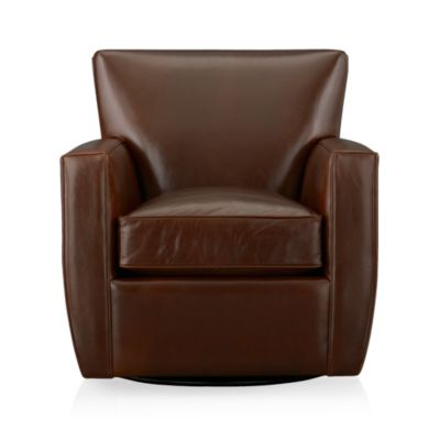 Streeter Leather Swivel Glider
