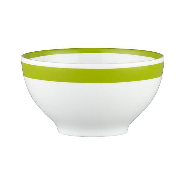 "Light Green Stripe 6"" Bowl"