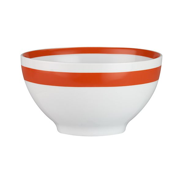 "Orange Stripe 6"" Bowl"