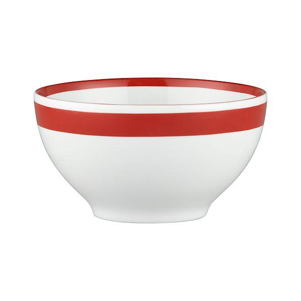 "Red Stripe 6"" Bowl"