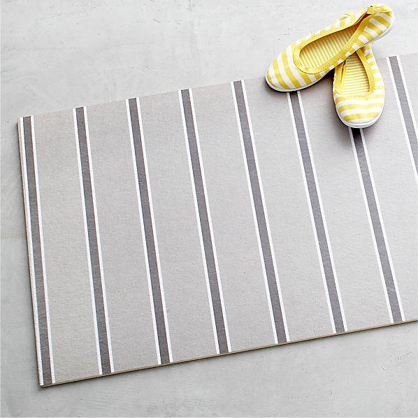 """Grey Stripe 54""""x20"""" Floor Mat"""