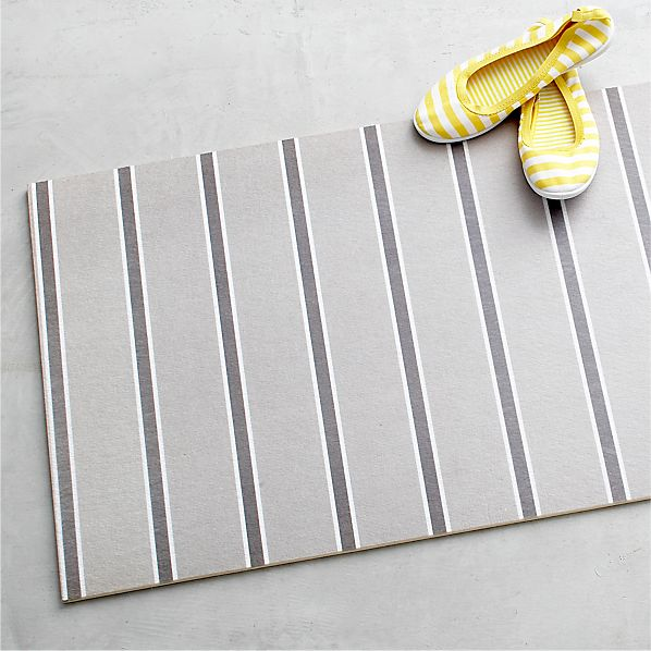 "Grey Stripe 54""x20"" Floor Mat"