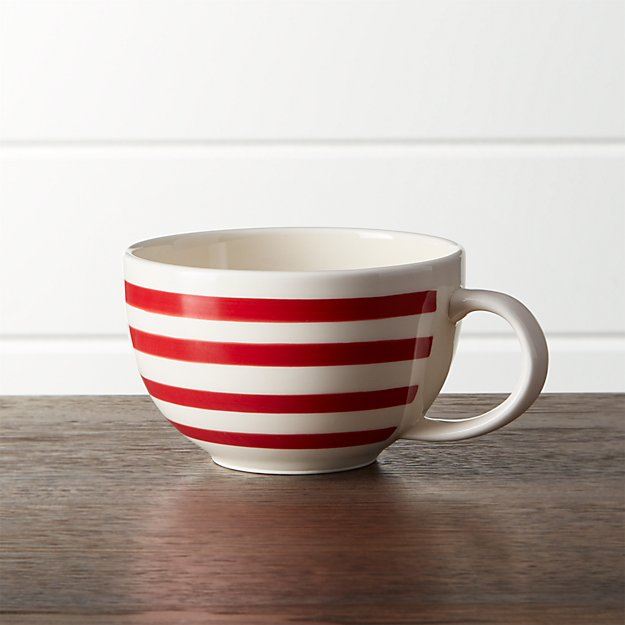 Red-Striped Jumbo 13 oz. Mug