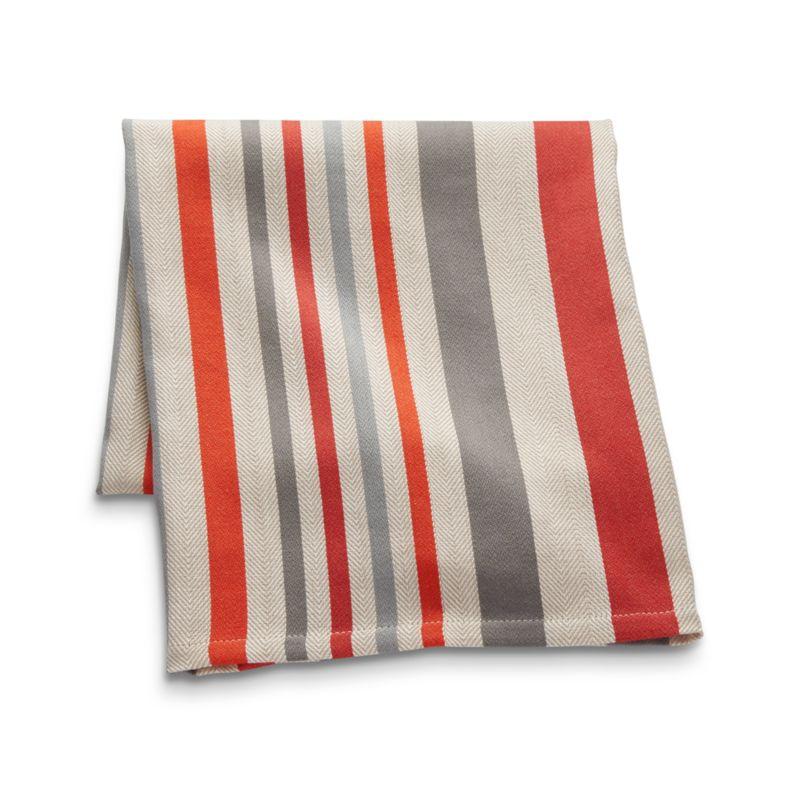 Striped Herringbone Dish Towel
