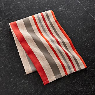 Striped Herringbone Dish Towel