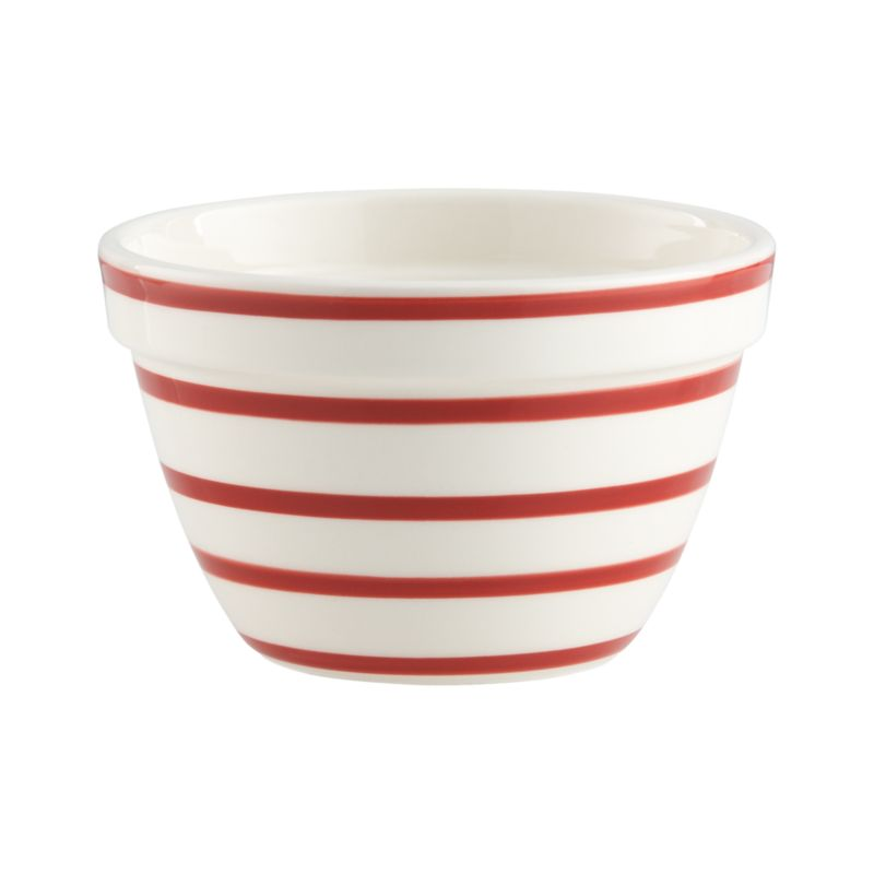 Graduated red stripes put a modern spin on a classic look. Individual earthenware serving bowl coordinates with a generous, all-purpose mixing bowl.<br /><br /><NEWTAG/><ul><li>High-fired earthenware</li><li>Dishwasher- and microwave-safe</li><li>Not oven- or freezer-safe</li><li>Made in Portugal</li></ul>