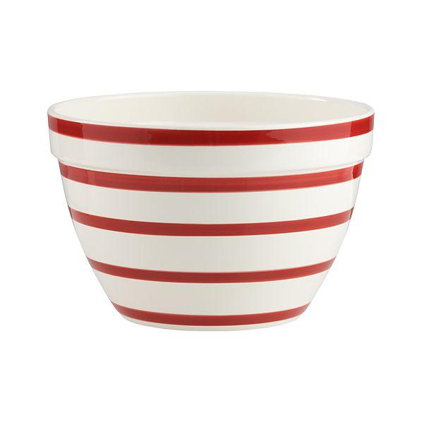 Striped Mixing Bowl