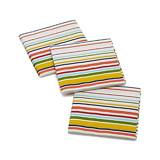 Set of 20 Stripes Paper Beverage Napkins