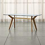 "Strut Teak 70"" Work Table"