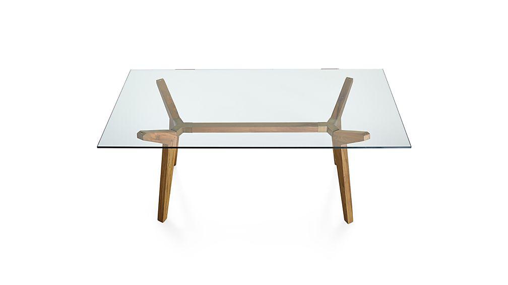 Strut Teak 70 Quot Work Table Crate And Barrel