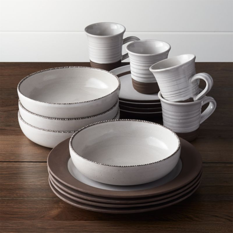 Studio Dark Clay 16-Piece Dinnerware Set