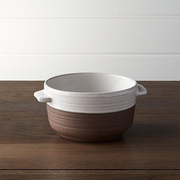 Studio Dark Clay Soup Bowl with Handles