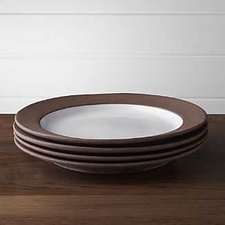 Set of 4 Studio Dark Clay Dinner Plates