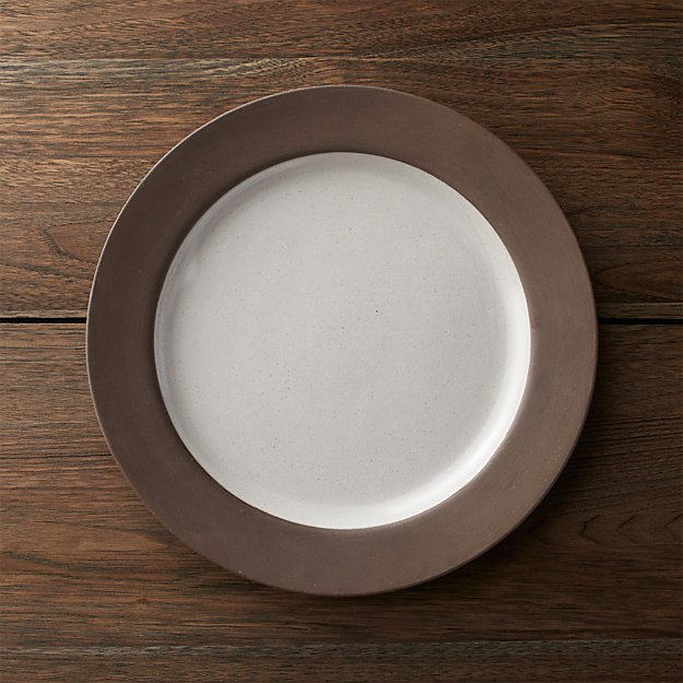 Studio Dark Clay Dinner Plate Crate And Barrel