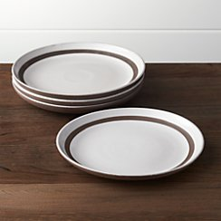 Set of 4 Studio Dark Clay Salad Plates