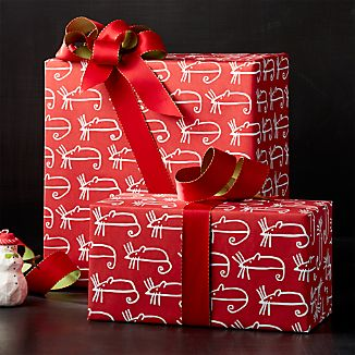 Sugar Mouse Red Wrapping Paper