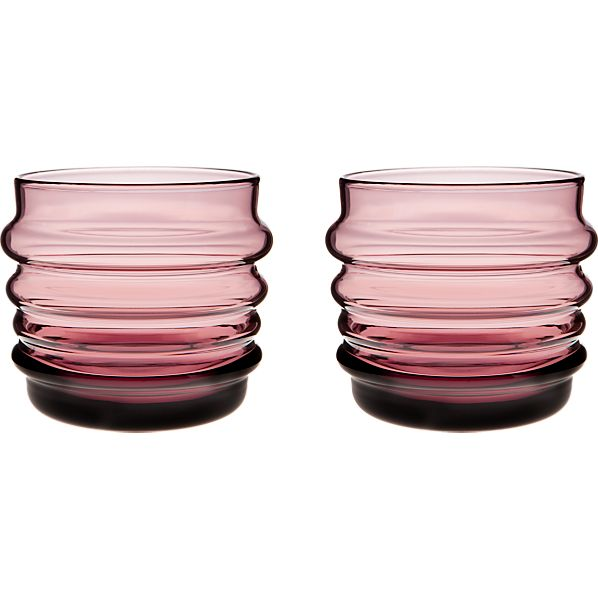 Set of 2 Marimekko Sukat Makkaralla Lilac Glasses