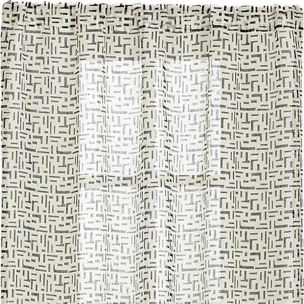 Sumba Indigo Sheer 48x84 Curtain Panel