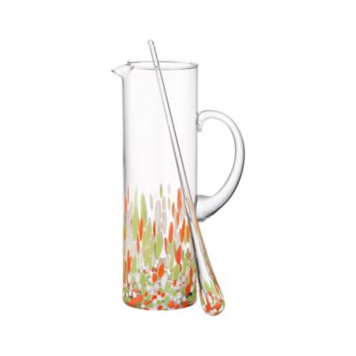 Summer Cocktail Pitcher with Stir Rod