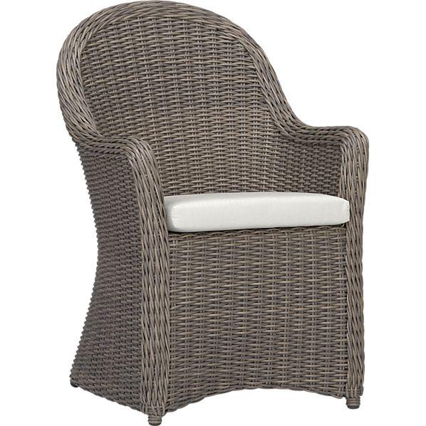 Summerlin Arm Chair with Sunbrella ® White Sand Cushion