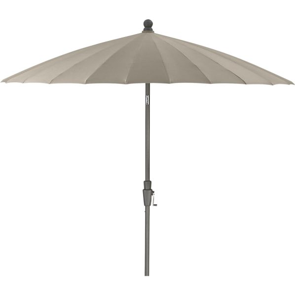 8.3' Round Sunbrella ® Stone Garden Umbrella with Frame