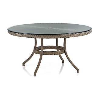 Summerlin Round Dining Table with Glass Top