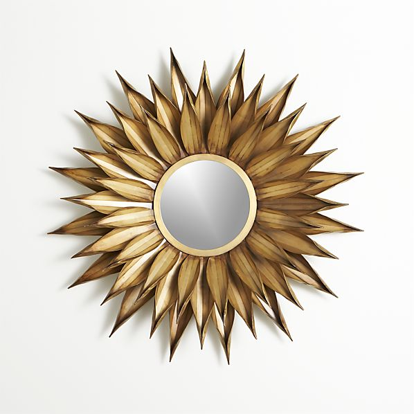 Crate And Barrel Outdoor Wall Decor : Sunflower round wall mirror