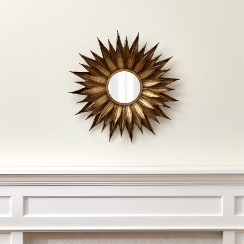 Sunflower Round Wall Mirror