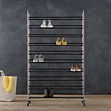 Supreme Adjustable Rolling Shoe Rack