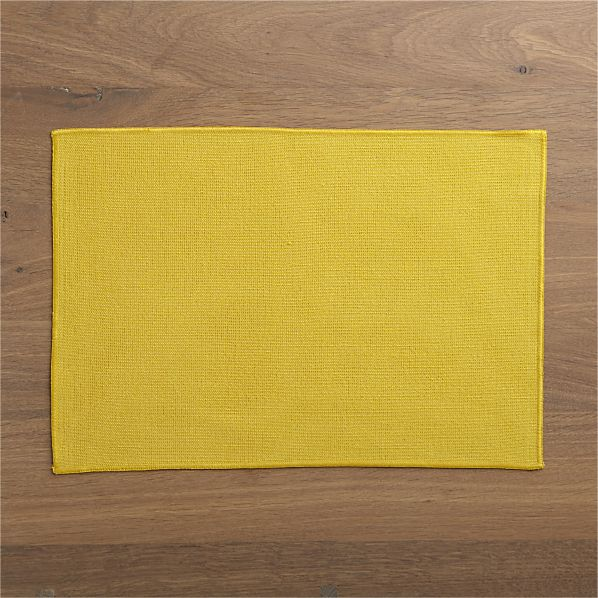 Surges Yellow Placemat
