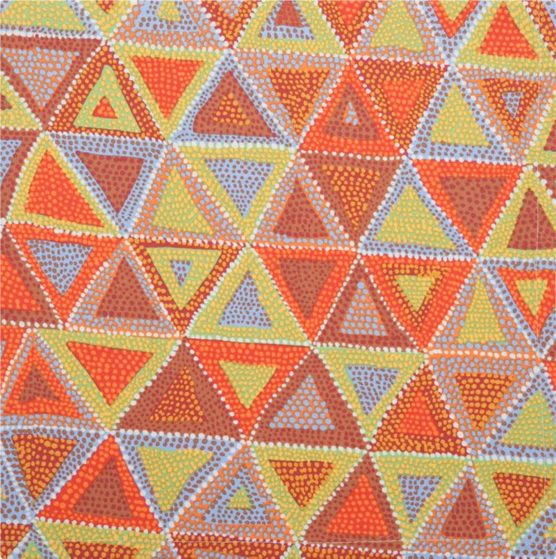 Tiny multicolored dots in warm summery hues converge in free-spirited triangle pattern printed on 100% cotton. Versatile color palette and pattern coordinates with a range of placemats and linens.<br /><br /><NEWTAG/><ul><li>100% cotton</li><li>Machine wash; warm iron as needed</li></ul>
