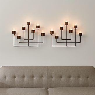 Set of 2 Surita Wall Tea Light Candle Holders