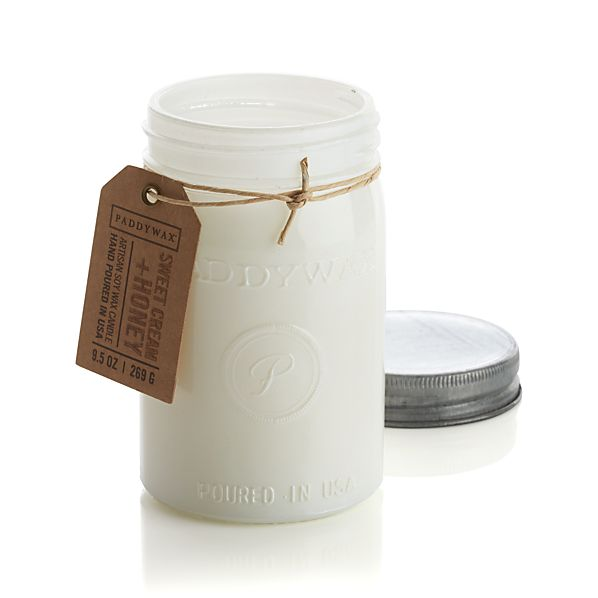 Sweet Cream- and Honey-Scented Candle