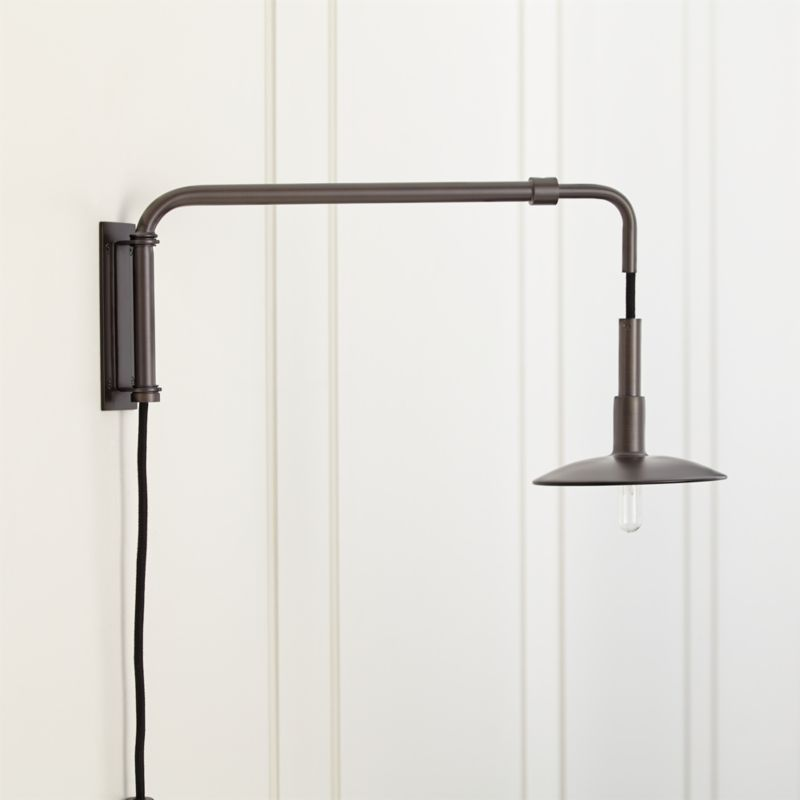 Swing Arm Bronze Sconce