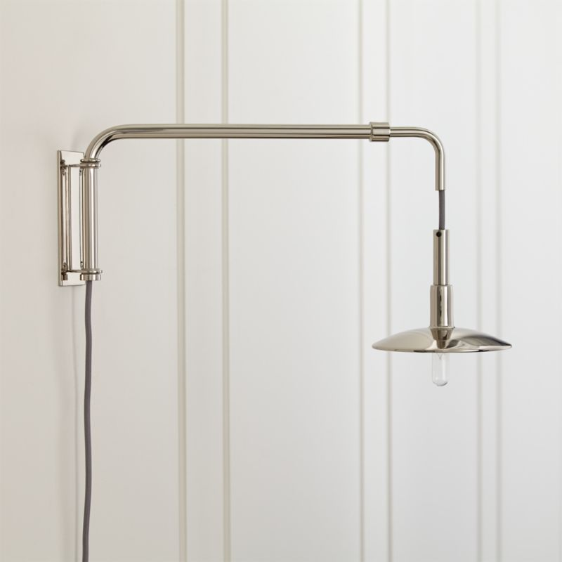 Swing Arm Nickel Sconce