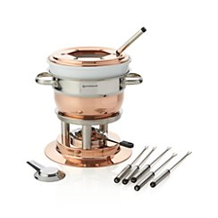 Swissmar Lausanne 11-Piece Copper Fondue Set