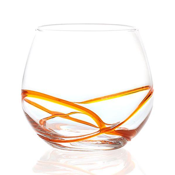 Swizzle Orange Drink Glass