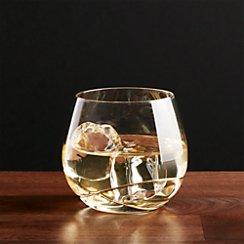Swizzle Gold Drink Glass