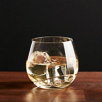 Swizzle Gold Drink Glass