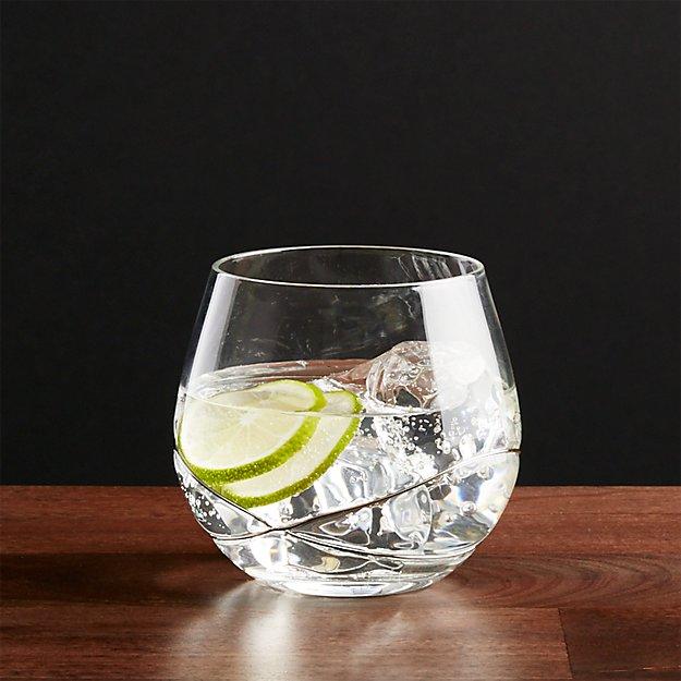 Swizzle Platinum Drink Glass